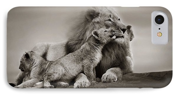 IPhone Case featuring the photograph Lions In Freedom by Christine Sponchia