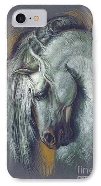 Lipizzan Horse IPhone Case by Zorina Baldescu