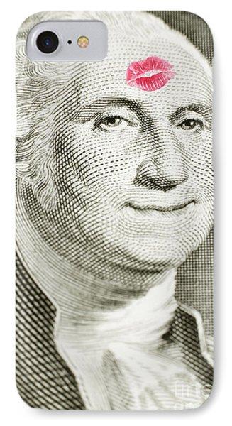 Lipstick Kiss On One Dollar Bill IPhone Case