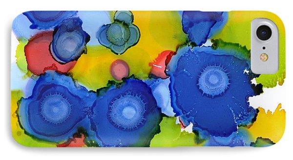 Liquid Blue Bonnets IPhone Case by Yolanda Koh