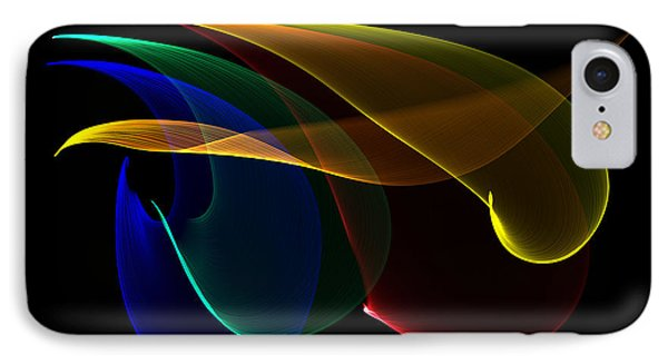 IPhone Case featuring the digital art Liquid Colors by Pete Trenholm