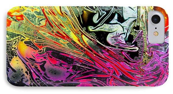 Liquid Decalcomaniac Desires 1 IPhone Case by Otto Rapp