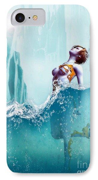 IPhone Case featuring the digital art Liquid Fantasy by Sandra Bauser Digital Art
