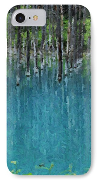 Liquid Forest IPhone Case by David Hansen