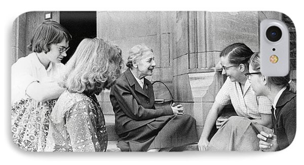 Lise Meitner With Students IPhone Case by Emilio Segre Visual Archives/american Institute Of Physics