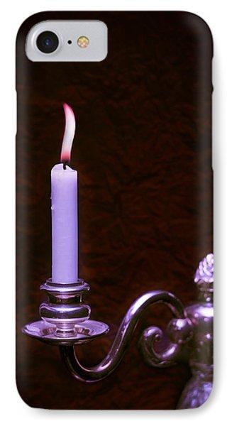 Lit Candle Phone Case by Amanda Elwell