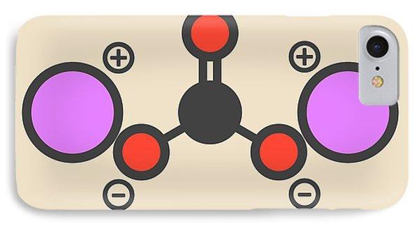 Lithium Carbonate Molecule IPhone Case by Molekuul