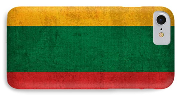 Lithuania Flag Vintage Distressed Finish IPhone Case
