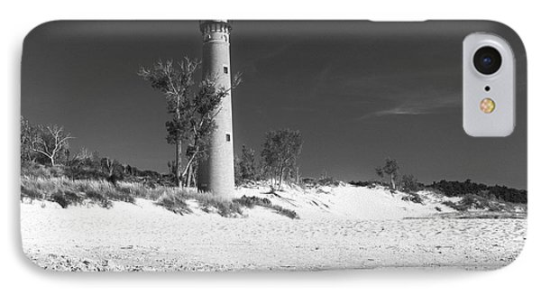 Litle Sable Light Station - Film Scan IPhone Case by Larry Carr