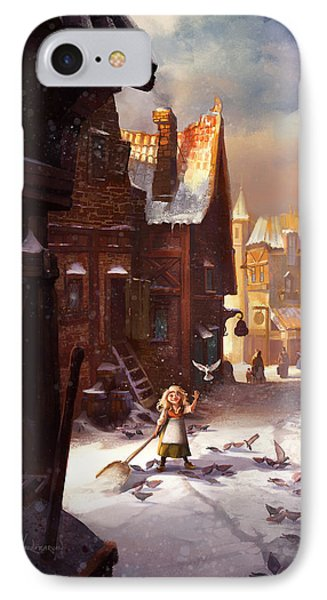 Little Anna IPhone Case by Kristina Vardazaryan