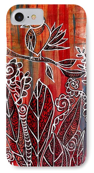 IPhone Case featuring the painting Little Birdie by Julie  Hoyle