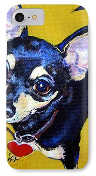 Little Bitty Chihuahua IPhone Case by Rebecca Korpita