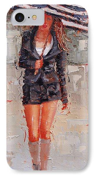 Little Black Suit IPhone Case by Laura Lee Zanghetti
