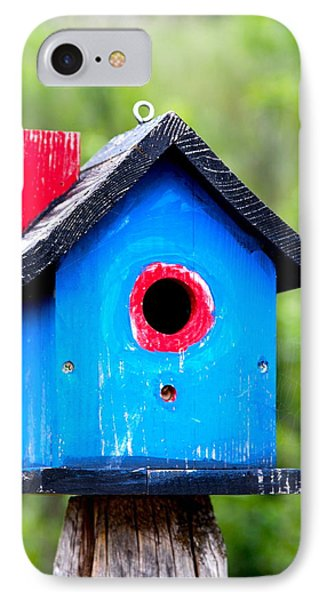 Little Blue Birdhouse Phone Case by Karon Melillo DeVega