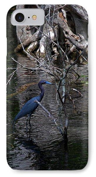 Little Blue Heron Phone Case by Skip Willits
