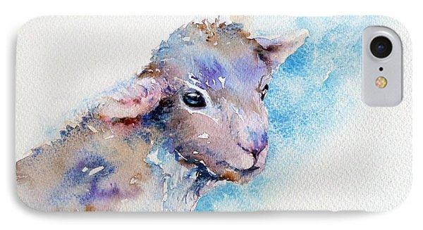 Little Blue Lamb IPhone Case
