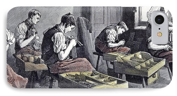 Little Boys Home At Farningham Britain 1891 The Shoemakers IPhone Case by English School