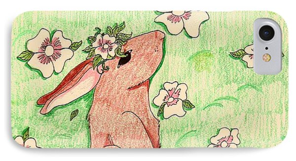 Little Bunny Big Dreams IPhone Case by Wendy Coulson