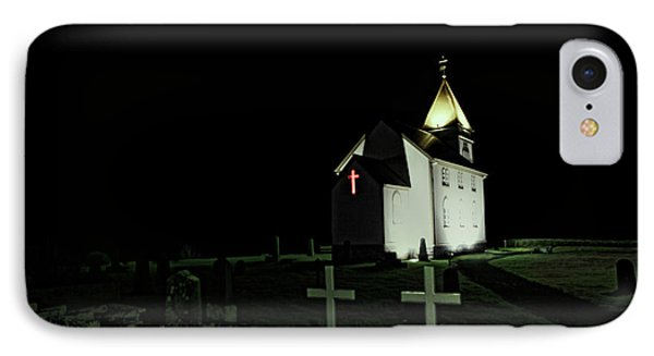 Little Church At Night IPhone Case by Jasna Buncic