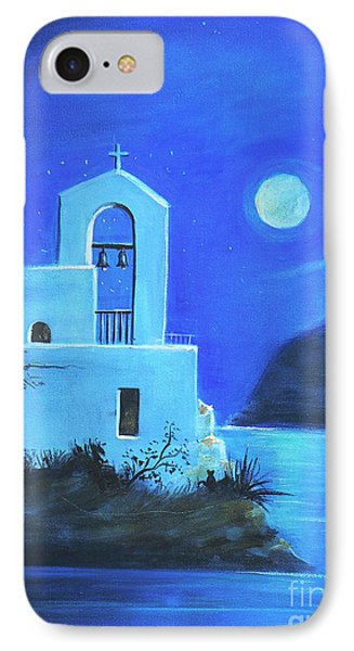 IPhone Case featuring the painting Little Church By The Sea by S G
