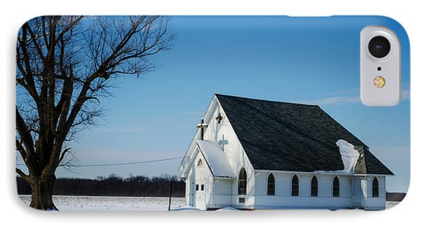 Little Church On The Prairie IPhone Case by Luther Fine Art