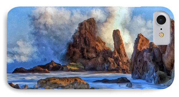 IPhone Case featuring the painting Little Corona by Michael Pickett