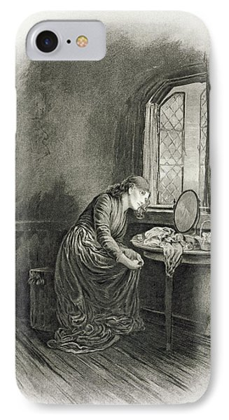 Little Dorrit, From Charles Dickens A IPhone Case by Frederick Barnard