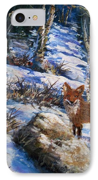 IPhone Case featuring the painting Little Fox by Megan Walsh