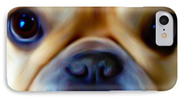 Little Frenchie Face Phone Case by Barbara Chichester