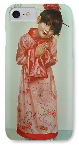 Little Geisha Phone Case by JoAnne Castelli-Castor
