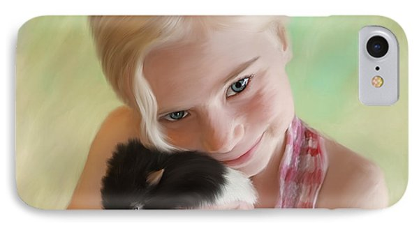 Little Girl And Pet Rat Phone Case by Angela A Stanton