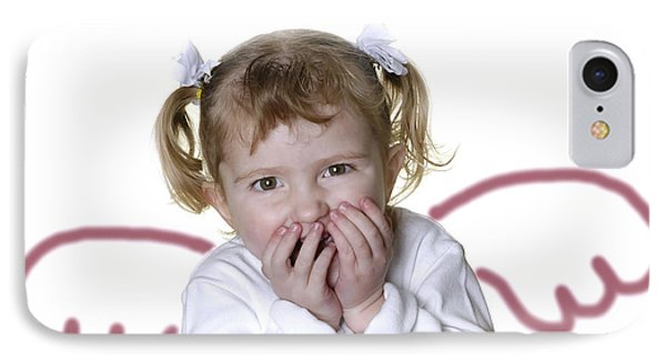 Little Girl Angel Phone Case by Lane Erickson