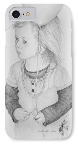 Little Girl With Balloon IPhone Case by John Stuart Webbstock
