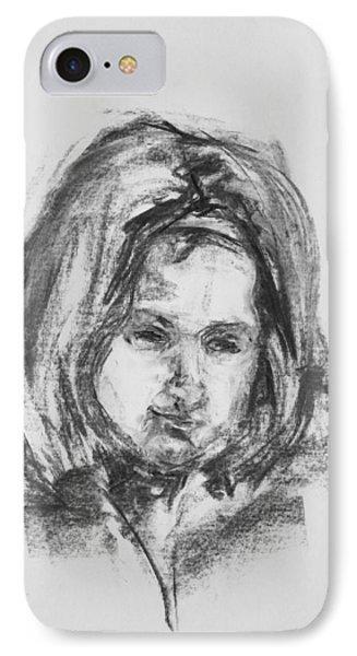 Little Girl With Hairband Phone Case by Barbara Pommerenke