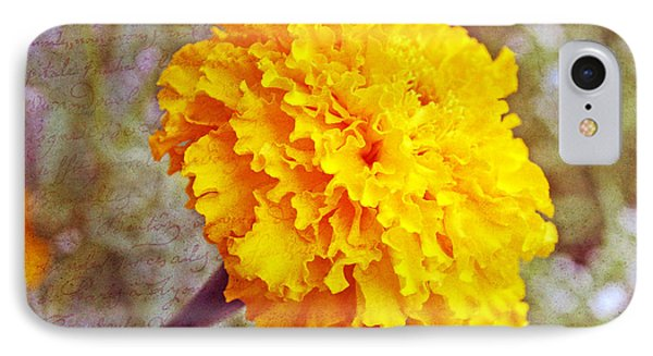 IPhone Case featuring the photograph Little Golden  Marigold by Kay Novy
