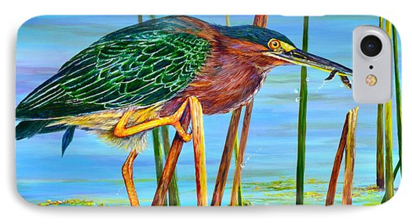 Little Green Heron IPhone Case by AnnaJo Vahle