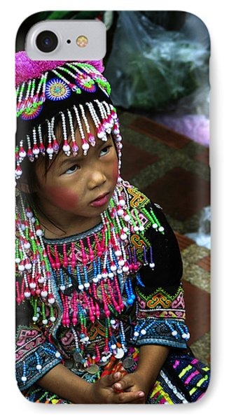 Little Hill Tribe Girl IPhone Case by Rob Tullis