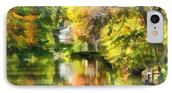 Little House By The Stream In Autumn Phone Case by Susan Savad