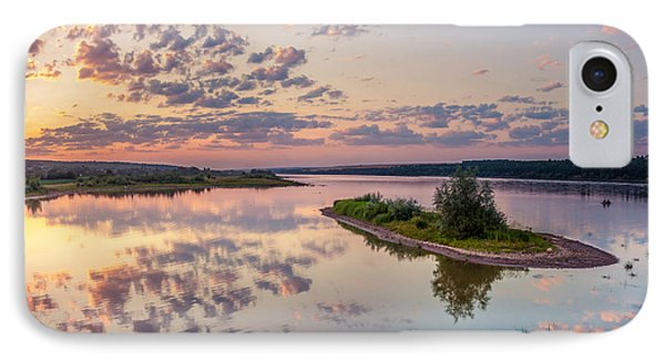 Little Island On Sunset IPhone Case by Dmytro Korol