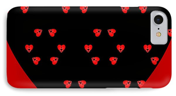 IPhone Case featuring the digital art Little Kaleidoscope Hearts by Pete Trenholm