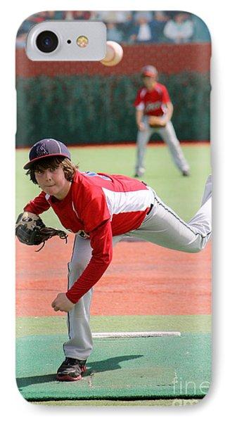 Little League Pitcher Phone Case by Lisa Billingsley