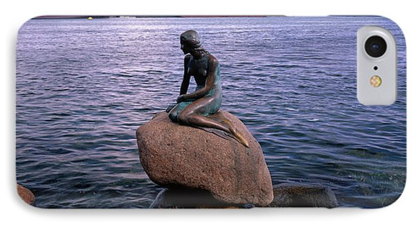 Little Mermaid Statue On Waterfront IPhone Case by Panoramic Images