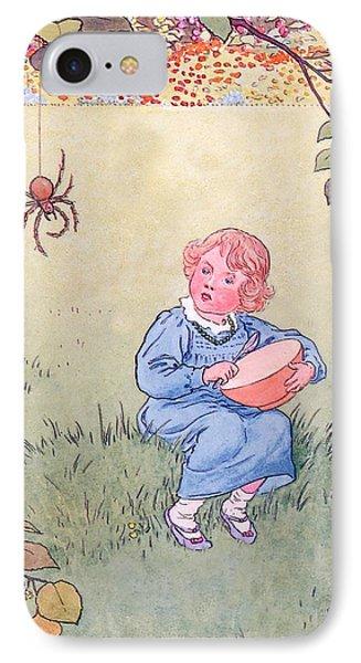 Little Miss Muffet Phone Case by Leonard Leslie Brooke