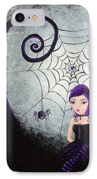 Little Miss Muffet Phone Case by Oddball Art Co by Lizzy Love