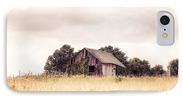 IPhone Case featuring the photograph Little Old Barn In A Field - Landscape  by Gary Heller