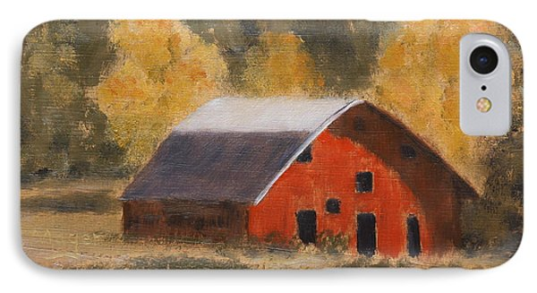 Little Old Hay Barn IPhone Case by Alan Mager