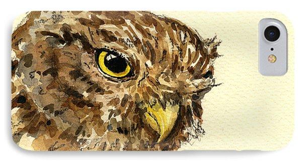 Little Owl IPhone Case by Juan  Bosco