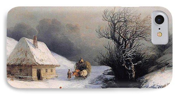 Little Ox Cart Phone Case by Ivan Aivazovsky