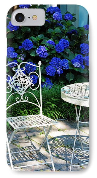 Little Patio Chair IPhone Case by Jan Amiss Photography
