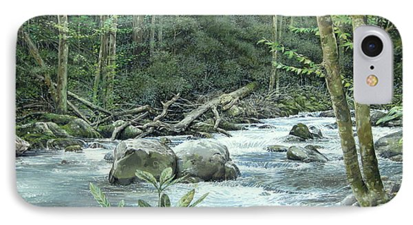 IPhone Case featuring the painting Little Pigeon River by Bob  George